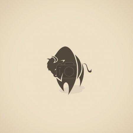 Illustration pour Buffalo - illustration - image libre de droit