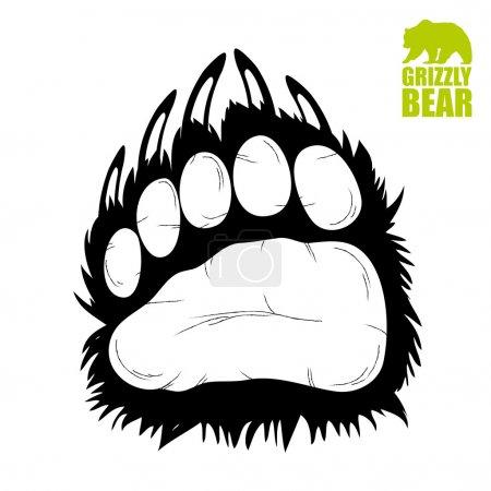 Illustration pour Timbre empreinte ours - illustration - image libre de droit
