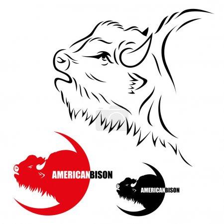 Illustration pour Bison d'Amérique - illustration - image libre de droit