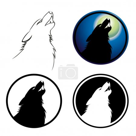 Howling wolf sign