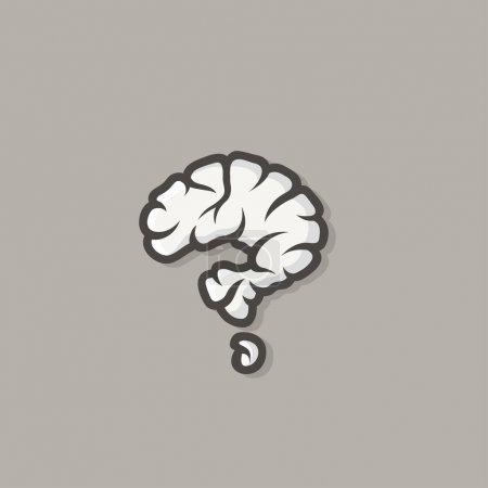 Illustration for Brain in shape of question mark -  illustration - Royalty Free Image