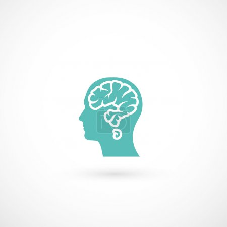 Illustration for Human head with brain in shape of question mark illustration - Royalty Free Image