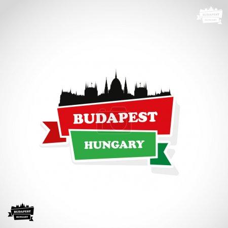 Budapest ribbon banner
