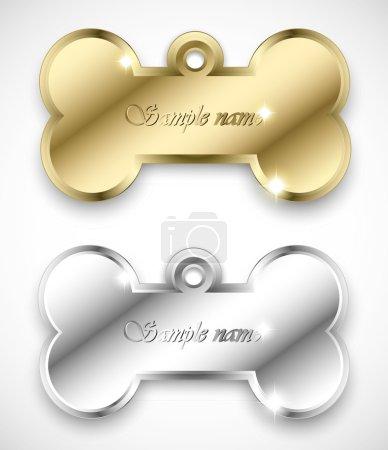 Bone pendant for dog collar