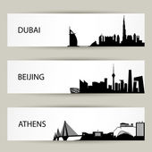 City skyline banners illustration