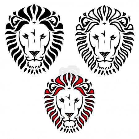 Illustration for Lion head tattoo  illustration - Royalty Free Image