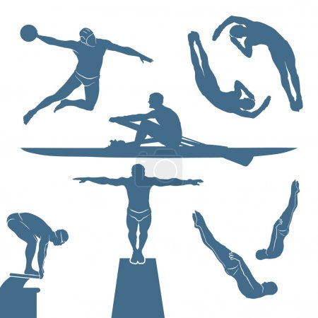 Water sport silhouettes