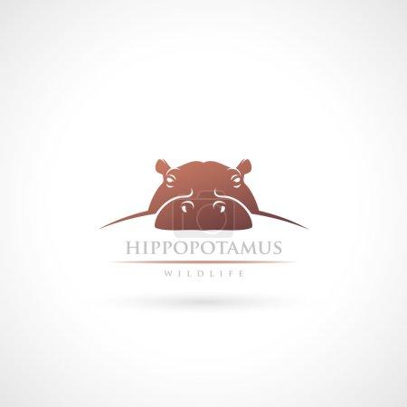 Hippopotamus label