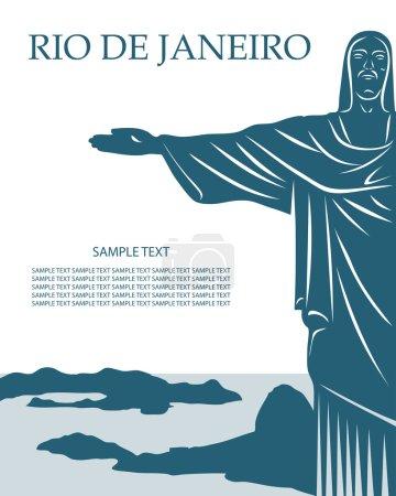 Rio De Janeiro card with Jesus Christ statue
