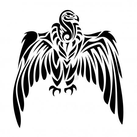 Tribal vulture - tattoo...
