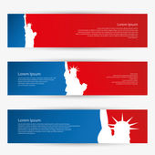New York banners  illustration