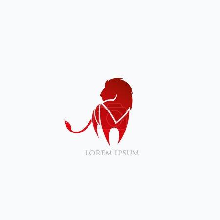 Illustration for Lion symbol  illustration - Royalty Free Image