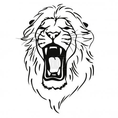 Illustration pour Tête de lion illustration fond - image libre de droit