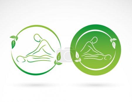 Illustration for Massage signs  illustration - Royalty Free Image