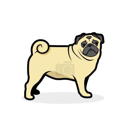 Pug dog label