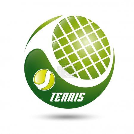 Illustration pour Panneau coupe tennis - image libre de droit