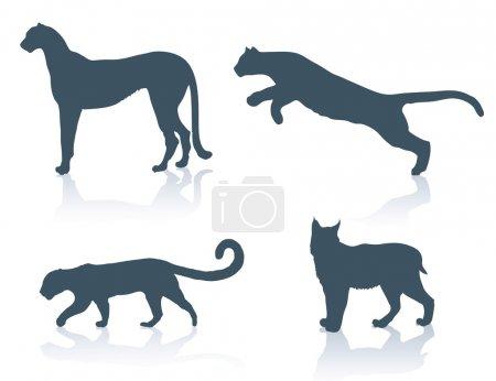 Illustration pour Illustration de grands chats - image libre de droit
