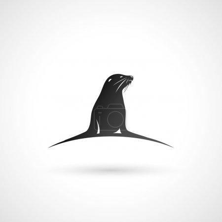 Illustration for Sea Lion illustration - Royalty Free Image