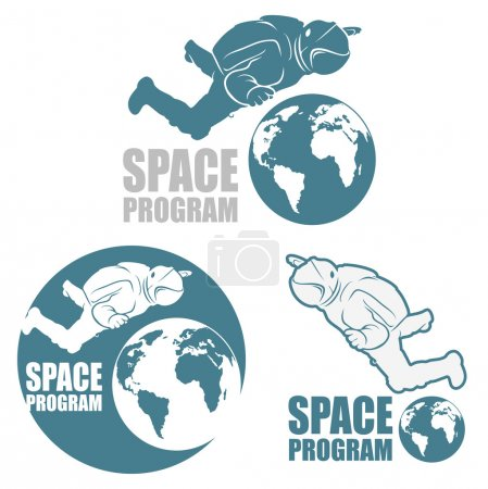 Illustration for Space astronaut  background - Royalty Free Image