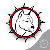 Staffordshire terrier sign illustration