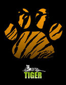Tiger paw and fur
