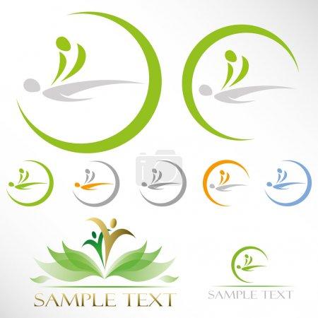 Illustration for Massage icons  illustration - Royalty Free Image