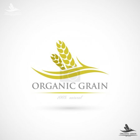 Illustration for Wheat label illustration - Royalty Free Image