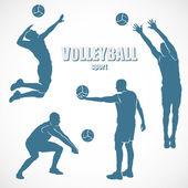 Volleyball-Silhouetten