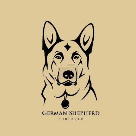 German Shepherd dog illustration...