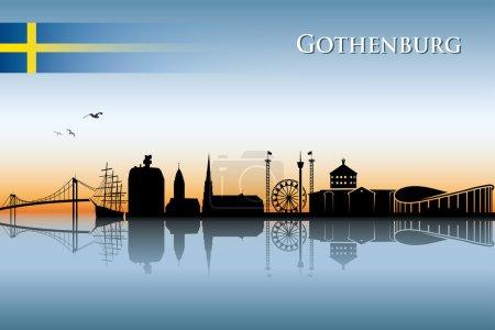 Gothenburg skyline  illustration...