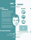 Flat design web portfolio - vector illustration
