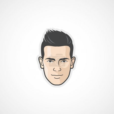 Illustration for Man face - flat design - vector illustration - Royalty Free Image