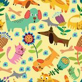 Cartoon seamless pattern for childish designs