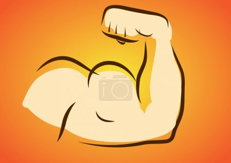 Flexing Muscle of Strong Arm ,Bicep