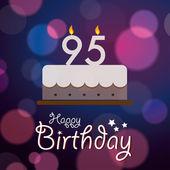 Devadesátépátá k narozeninám - bokeh vektorové pozadí s dortem