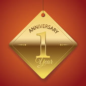1 Years Anniversary poster  template tag design Vector
