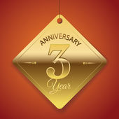 3 Years Anniversary poster  template tag design Vector