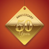50 Years Anniversary poster  template tag design Vector
