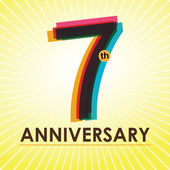 7 Years Anniversary poster  template tag design Vector
