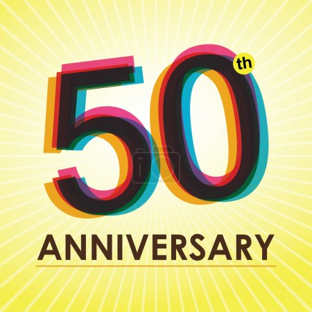 50 Years Anniversary poster , template, tag design Vector