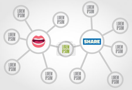 Illustration for Pros and cons of nowadays news sharing. - Royalty Free Image