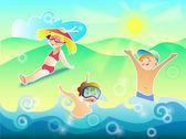 Постер Солнце воздух и вода