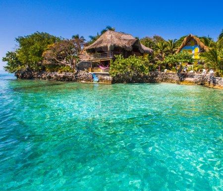 Photo pour Paradis mer à Rosario île - image libre de droit