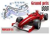 GRAND PRIX MONACO F1 POSTER