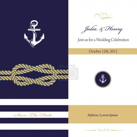 NAUTICAL WEDDING INVITATION DESIGN