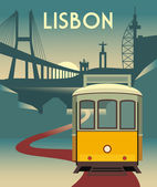Illustration of Lisbon tramway