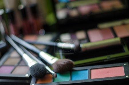 Backround with cosmetics