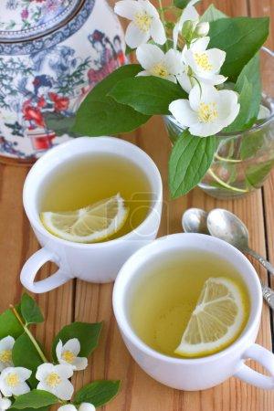 Green tea with jasmine and lemon