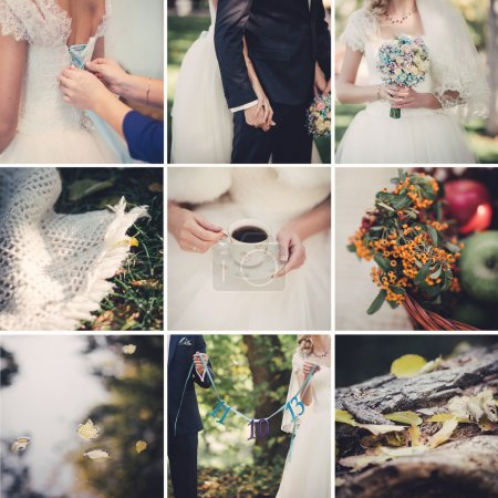 Photo for Autumn wedding themed pictures - Royalty Free Image