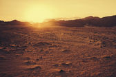 "Постер, картина, фотообои ""Закат в пустыне"""